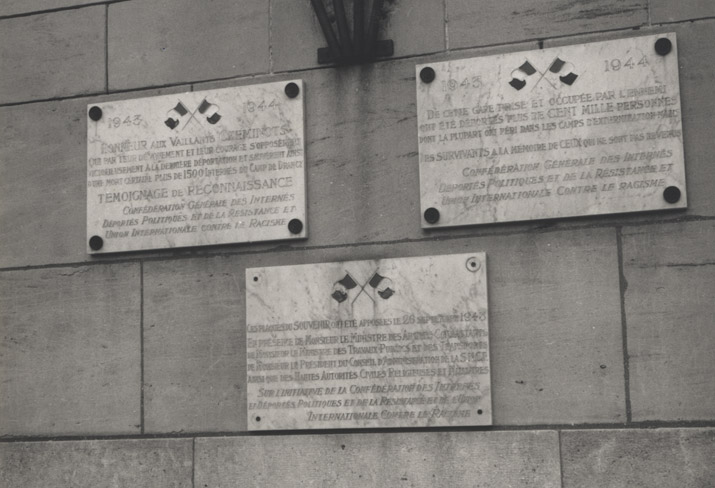 The three plaques affixed to the station in 1948.